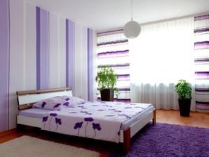 Designer-Tapete im Schlafzimmer