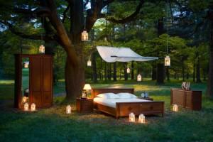 natürliches Schlafzimmer