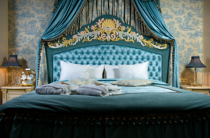Prunkvolle Dekoration Des Schlafzimmers